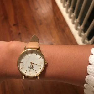 Kate Spade metro leather strap watch